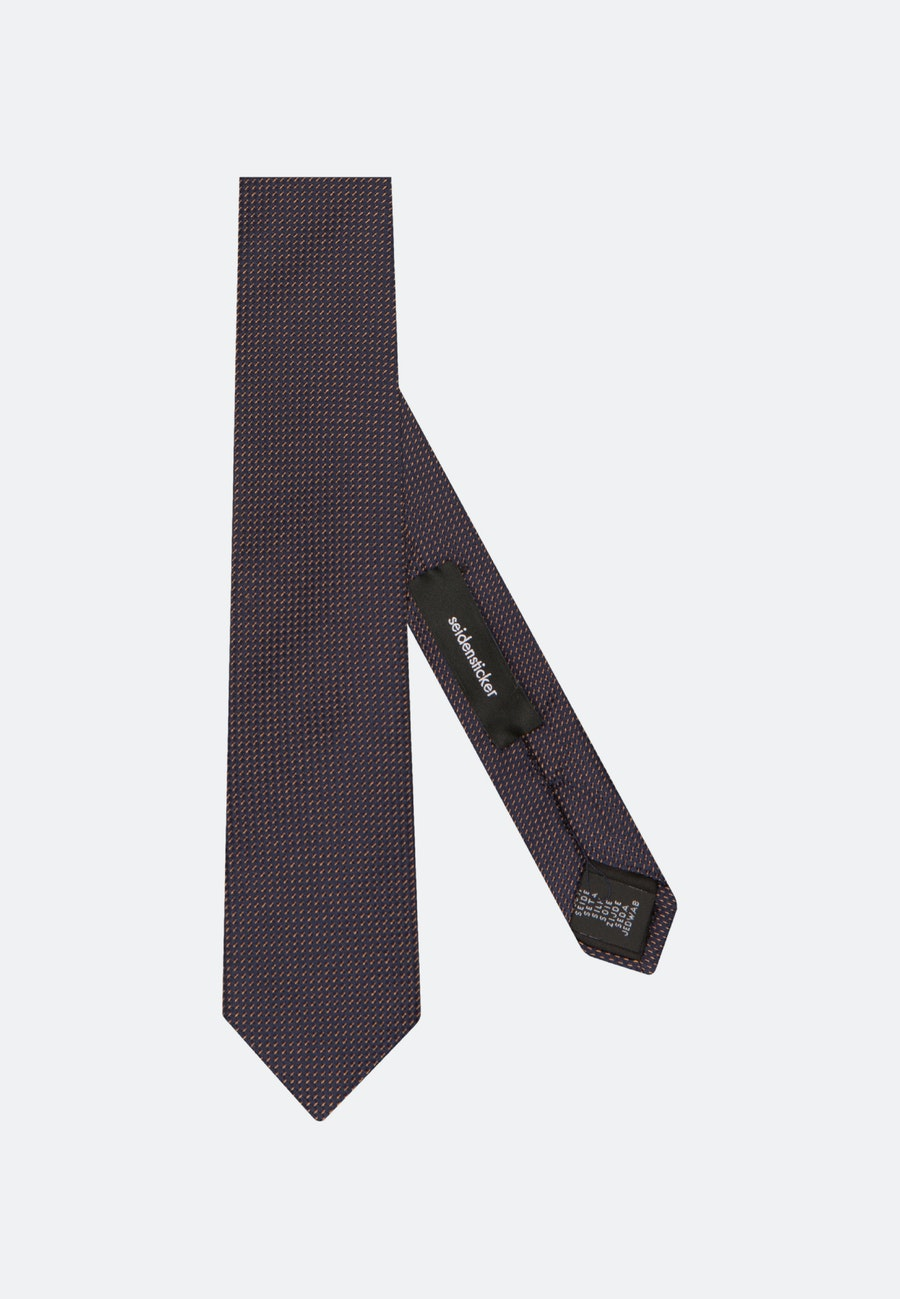 Tie made of 100% Silk 5 cm wide in Brown |  Seidensticker Onlineshop