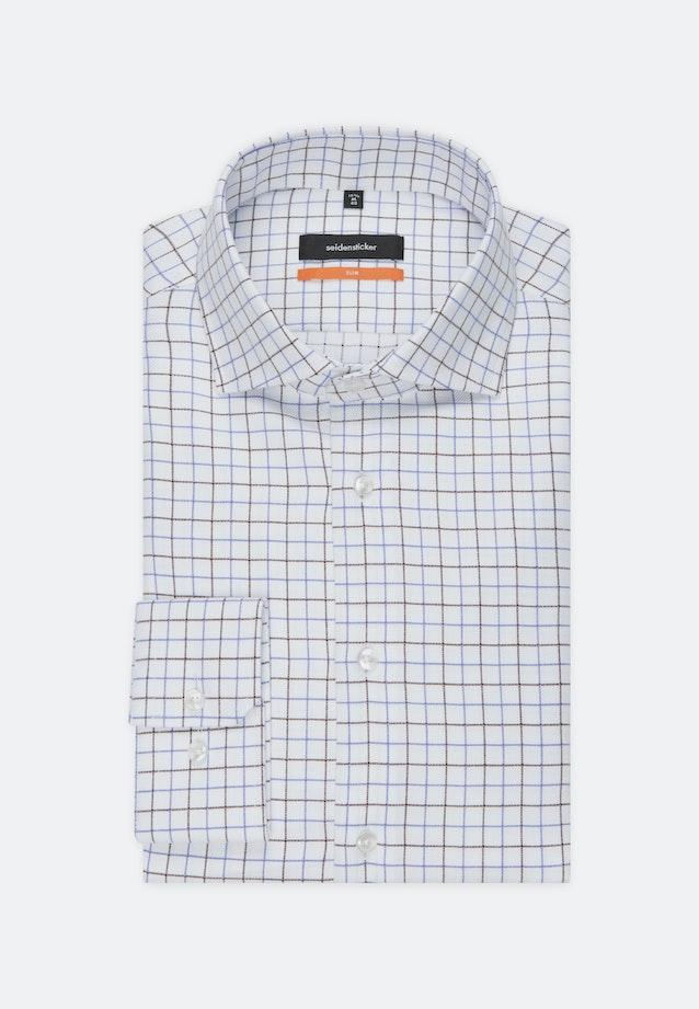 Bügelleichtes Fischgrat Business Hemd in Slim mit Kentkragen in Braun |  Seidensticker Onlineshop