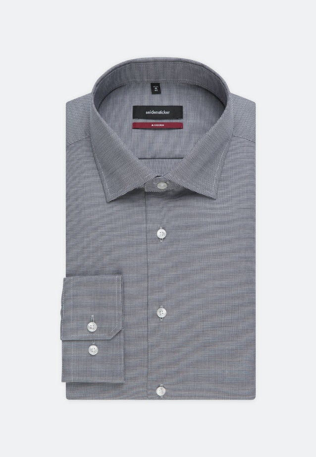 Bügelleichtes Struktur Business Hemd in Regular mit Kentkragen in Grau |  Seidensticker Onlineshop