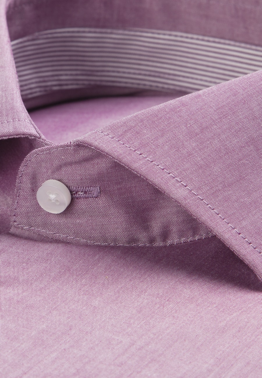 Non-iron Chambray Short sleeve Business Shirt in Regular with Kent-Collar in Purple |  Seidensticker Onlineshop