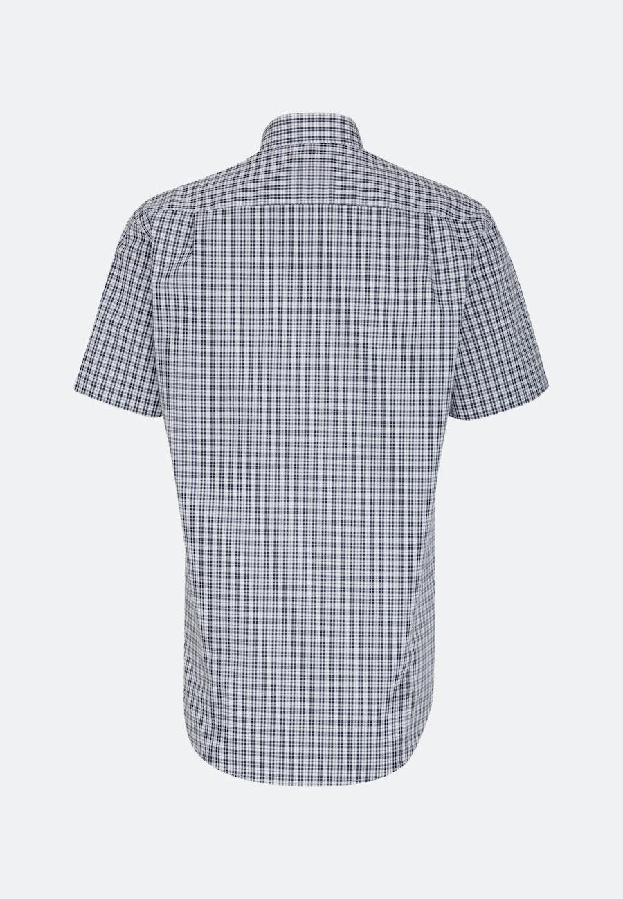 Non-iron Popeline Short sleeve Business Shirt in Regular with Button-Down-Collar in Dark blue |  Seidensticker Onlineshop