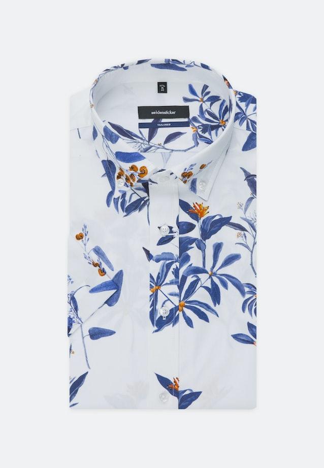 Bügelleichtes Popeline Kurzarm Business Hemd in Shaped mit Button-Down-Kragen in Dunkelblau |  Seidensticker Onlineshop