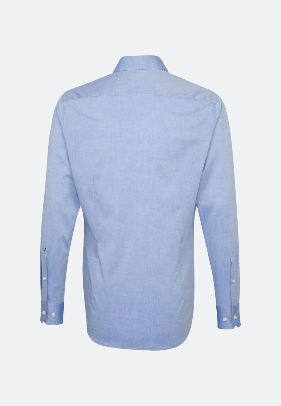Bügelfreies Chambray Business Hemd in Shaped mit Kentkragen in Mittelblau |  Seidensticker Onlineshop