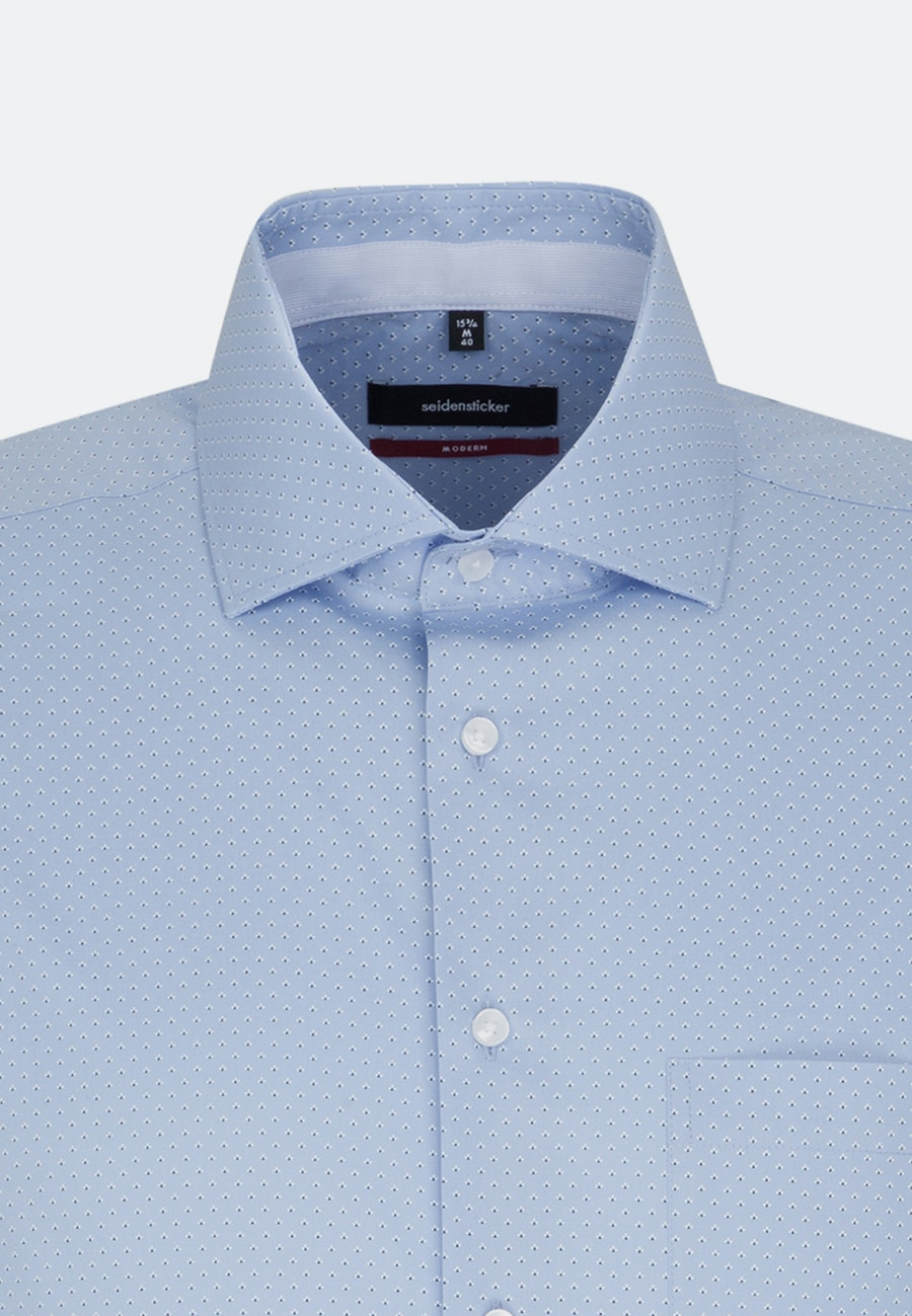 Easy-iron Popeline Short sleeve Business Shirt in Regular with Kent-Collar in Light blue |  Seidensticker Onlineshop