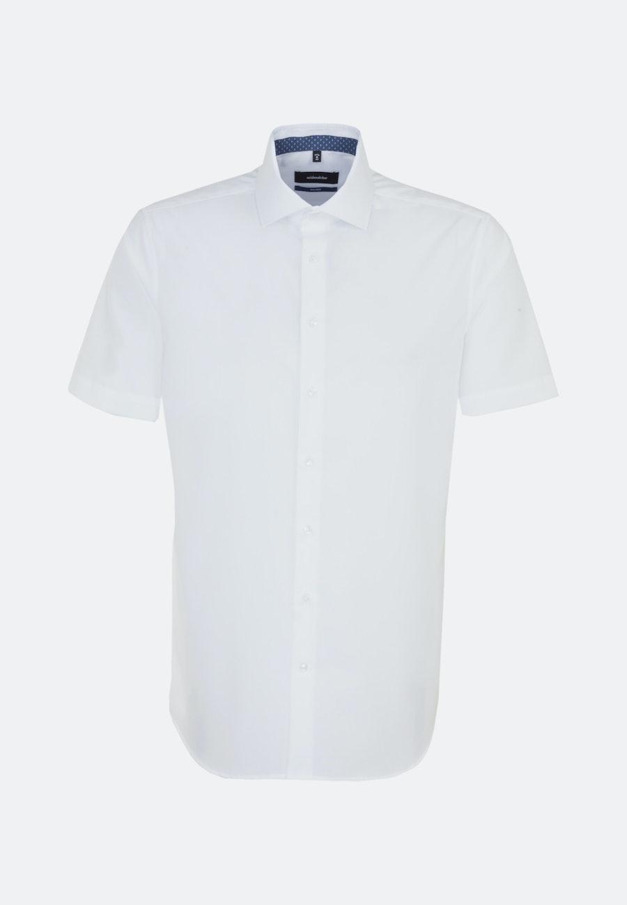 Bügelfreies Popeline Kurzarm Business Hemd in Shaped mit Kentkragen in Weiß |  Seidensticker Onlineshop