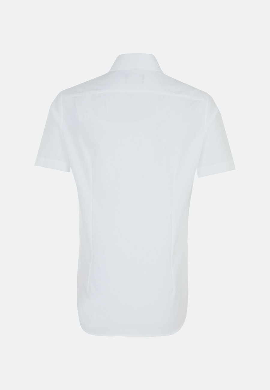 Non-iron Popeline Short sleeve Business Shirt in Slim with Kent-Collar in White    Seidensticker Onlineshop