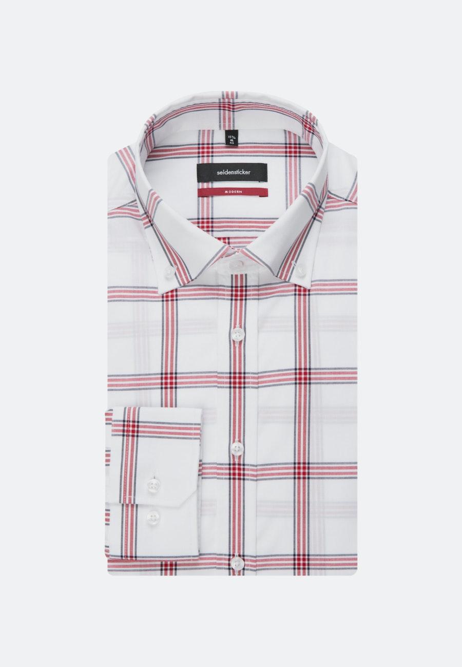 Non-iron Poplin Business Shirt in Regular with Button-Down-Collar in Red |  Seidensticker Onlineshop