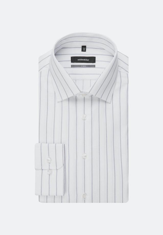 Bügelleichtes Struktur Business Hemd in X-Slim mit Kentkragen in Dunkelblau |  Seidensticker Onlineshop