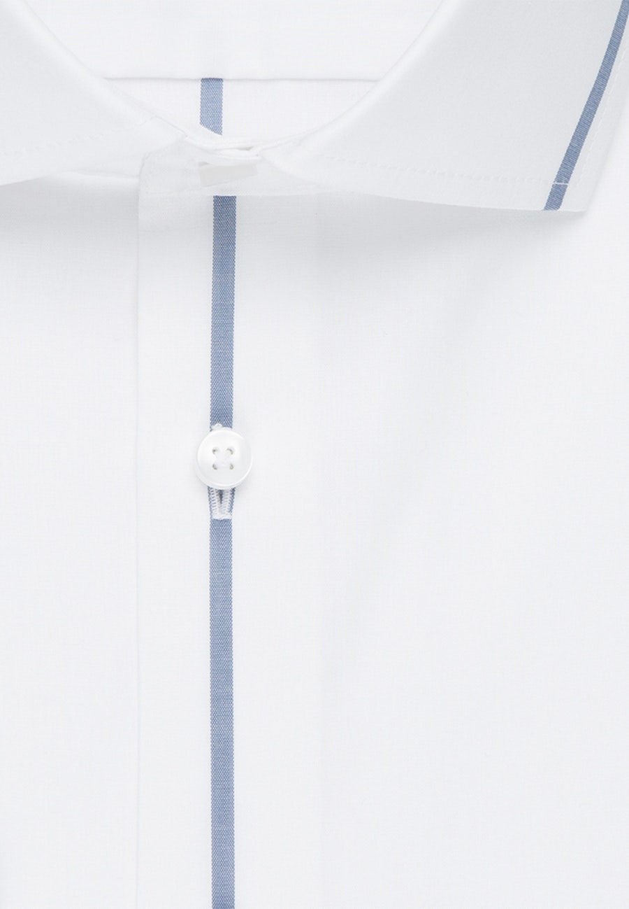 Non-iron Popeline Business Shirt in Slim with Kent-Collar in Medium blue |  Seidensticker Onlineshop
