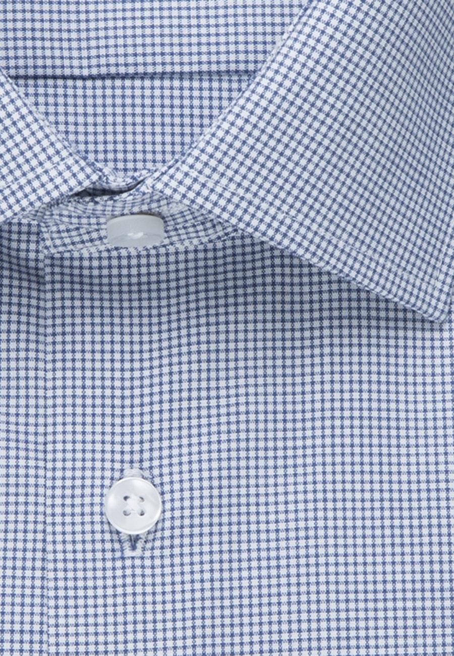 Non-iron Poplin Short sleeve Business Shirt in Regular with Kent-Collar in Medium blue |  Seidensticker Onlineshop