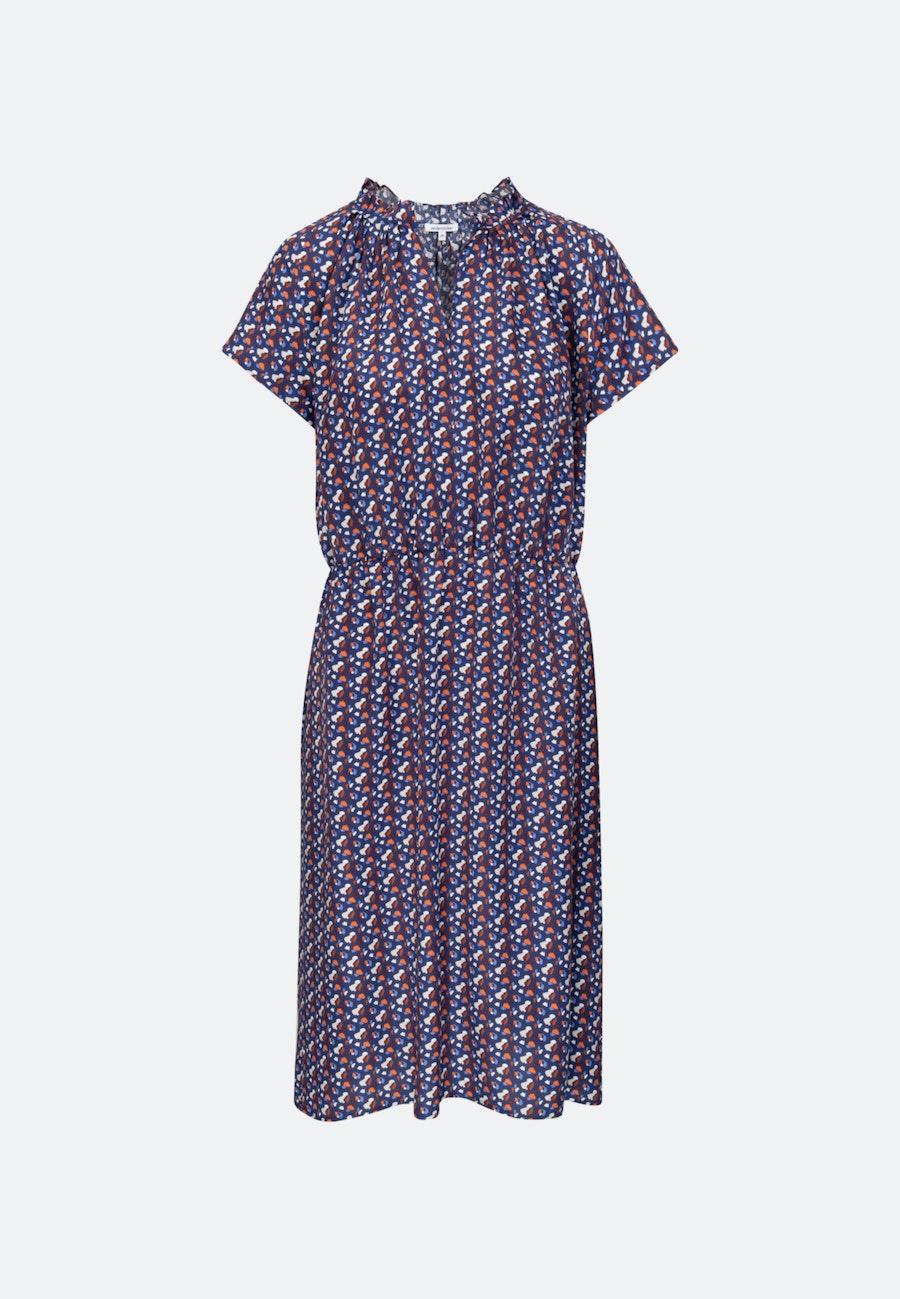 Voile Midi Dress made of 100% Viscose in Dark blue |  Seidensticker Onlineshop