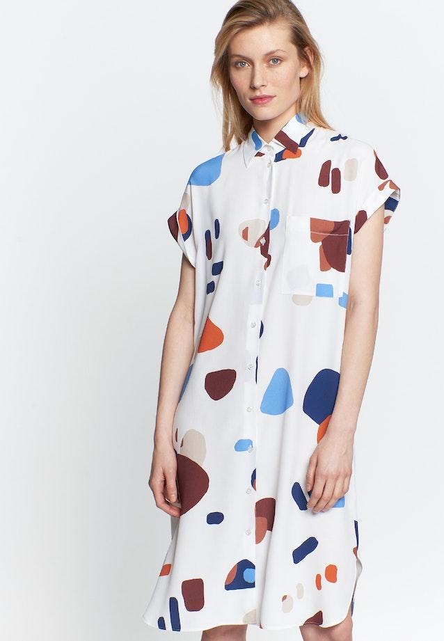 Sleeveless Krepp Midi Dress made of 100% Viscose in Medium blue |  Seidensticker Onlineshop