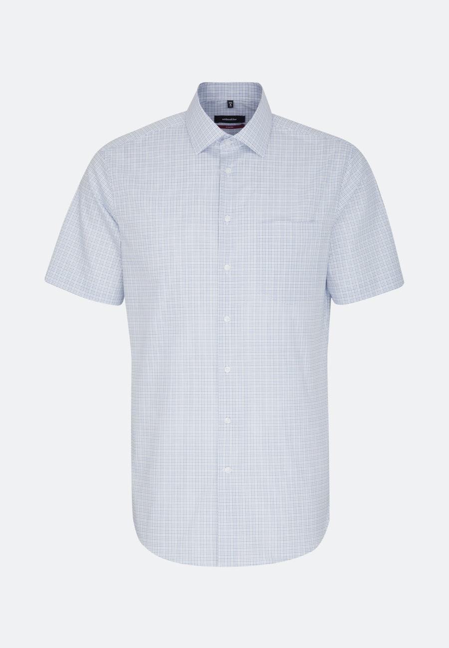 Non-iron Popeline Short sleeve Business Shirt in Regular with Kent-Collar in Light blue |  Seidensticker Onlineshop