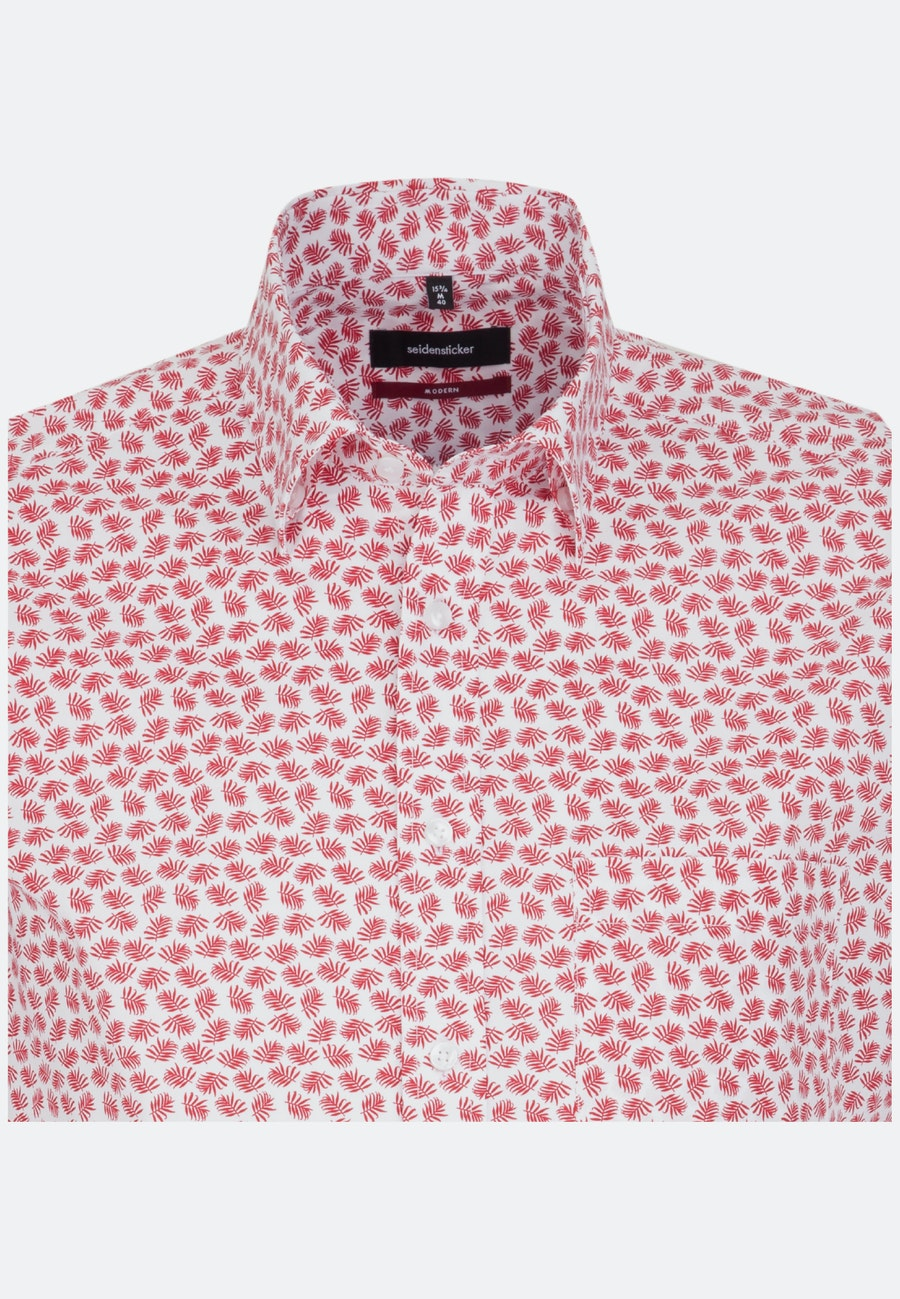 Easy-iron Popeline Business Shirt in Regular with Covered-Button-Down-Collar in Red |  Seidensticker Onlineshop