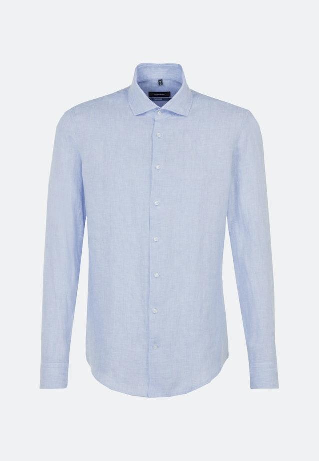 Twill Business Shirt in Shaped with Kent-Collar in Light blue    Seidensticker Onlineshop