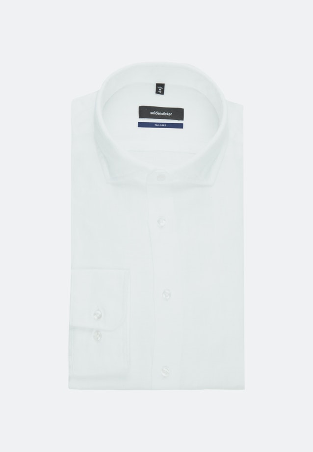 Twill Business Shirt in Shaped with Kent-Collar in White    Seidensticker Onlineshop