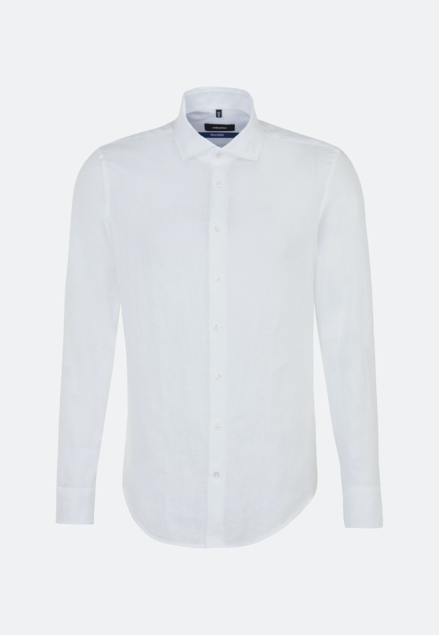 Twill Business Shirt in Shaped with Kent-Collar in White |  Seidensticker Onlineshop