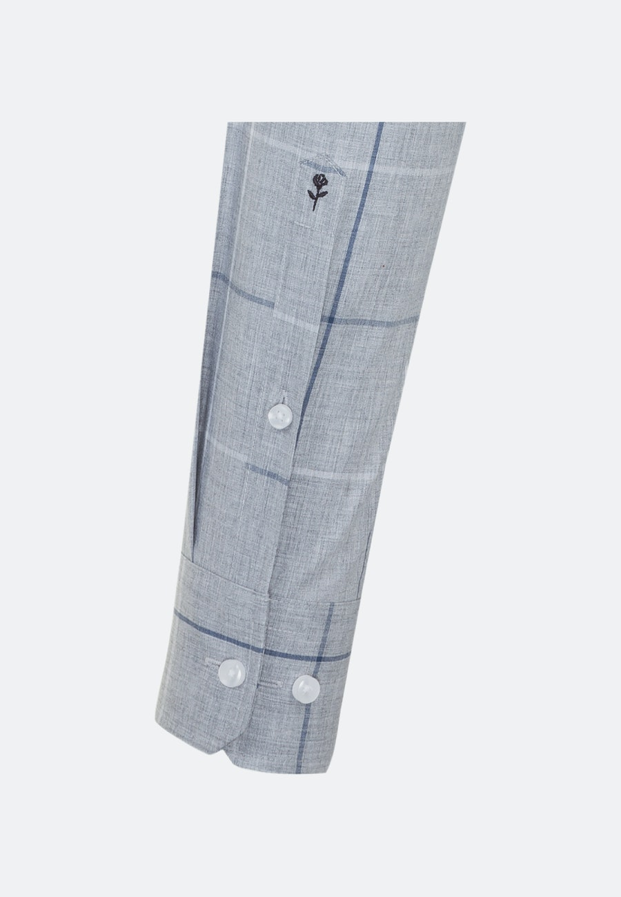 Bügelleichtes Melange Garne Business Hemd in X-Slim mit Kentkragen in Grau |  Seidensticker Onlineshop