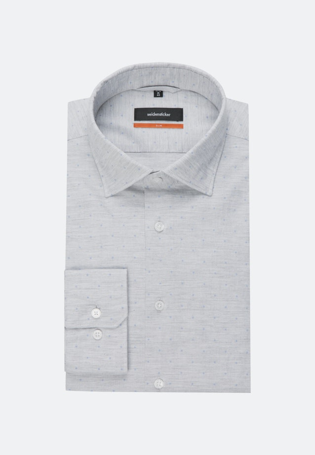 Easy-iron Melange Garne Business Shirt in Slim with Kent-Collar in Grey |  Seidensticker Onlineshop
