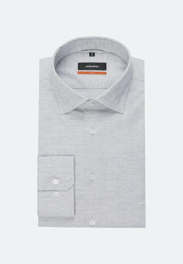 Melange Garne Business Hemd in Slim mit Kentkragen in Grau    Seidensticker Onlineshop
