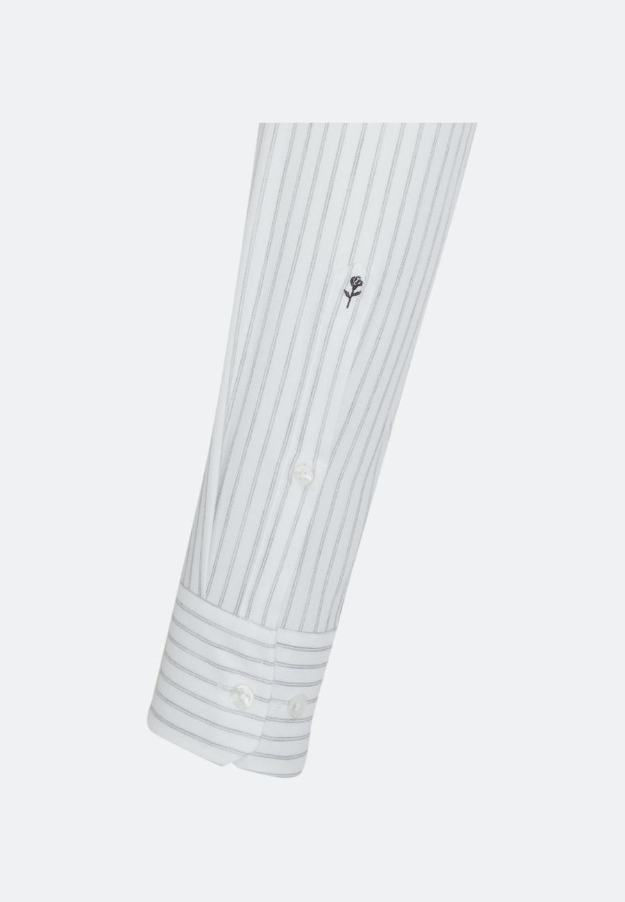 Bügelleichtes Struktur Business Hemd in Slim mit Kentkragen in Ecru |  Seidensticker Onlineshop