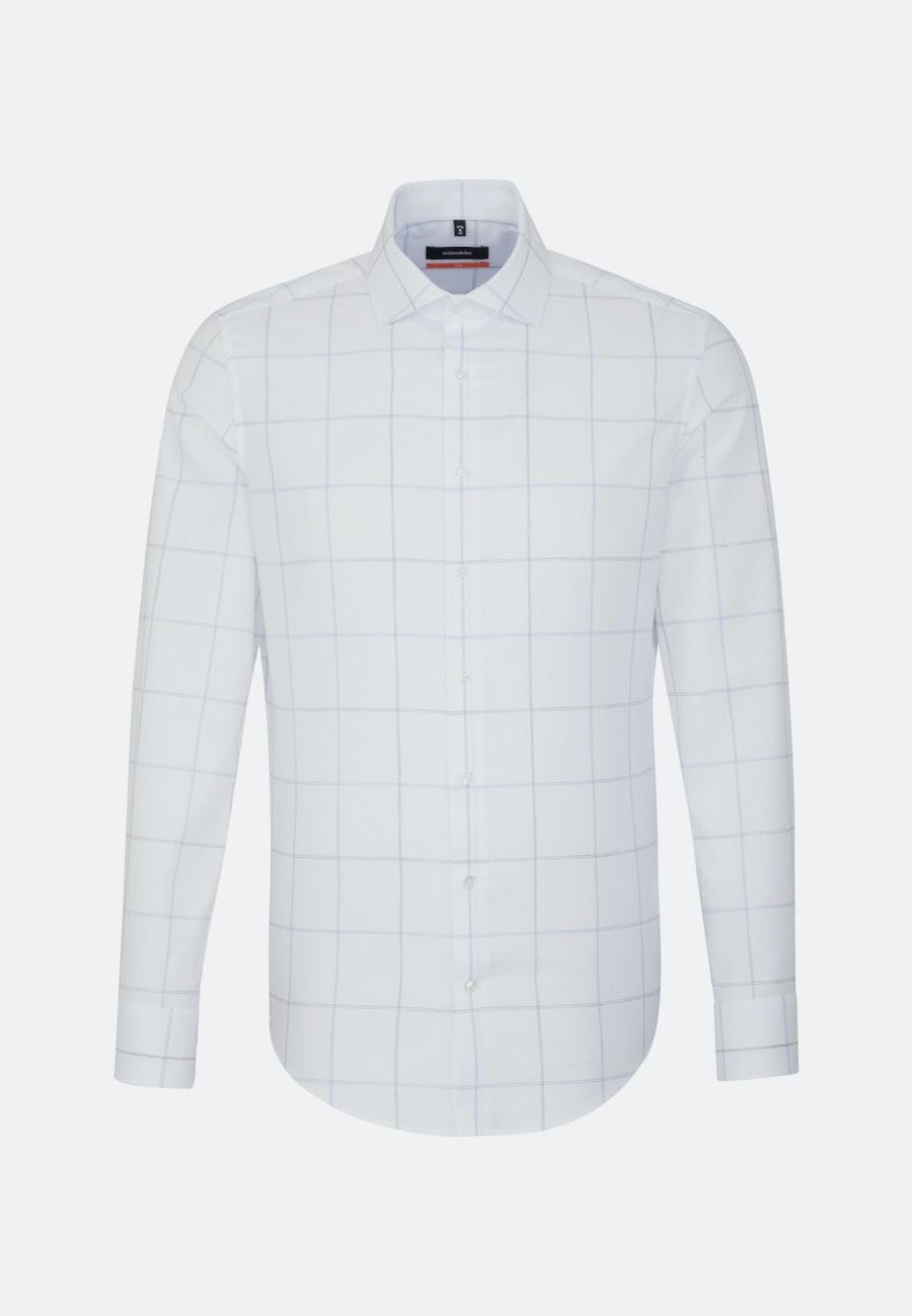 Bügelleichtes Melange Garne Business Hemd in Slim mit Kentkragen in Hellblau |  Seidensticker Onlineshop