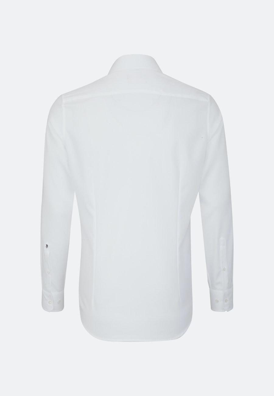 Easy-iron Struktur Business Shirt in Slim with Kent-Collar in White    Seidensticker Onlineshop
