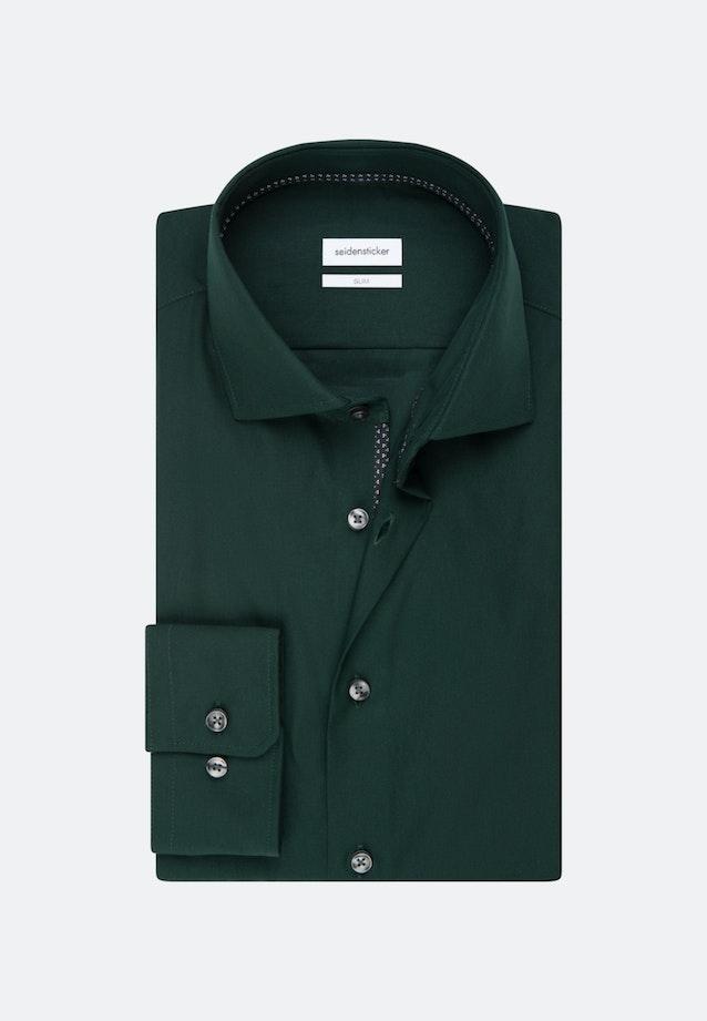 Easy-iron Poplin Business Shirt in Slim with Kent-Collar in Green |  Seidensticker Onlineshop