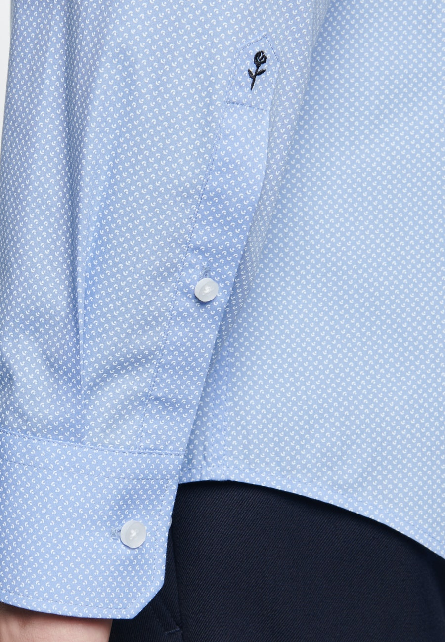 Popeline Business Hemd in Slim mit Kentkragen in Hellblau |  Seidensticker Onlineshop