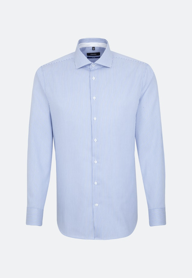 Non-iron Twill Business Shirt in Shaped with Kent-Collar in Light blue    Seidensticker Onlineshop