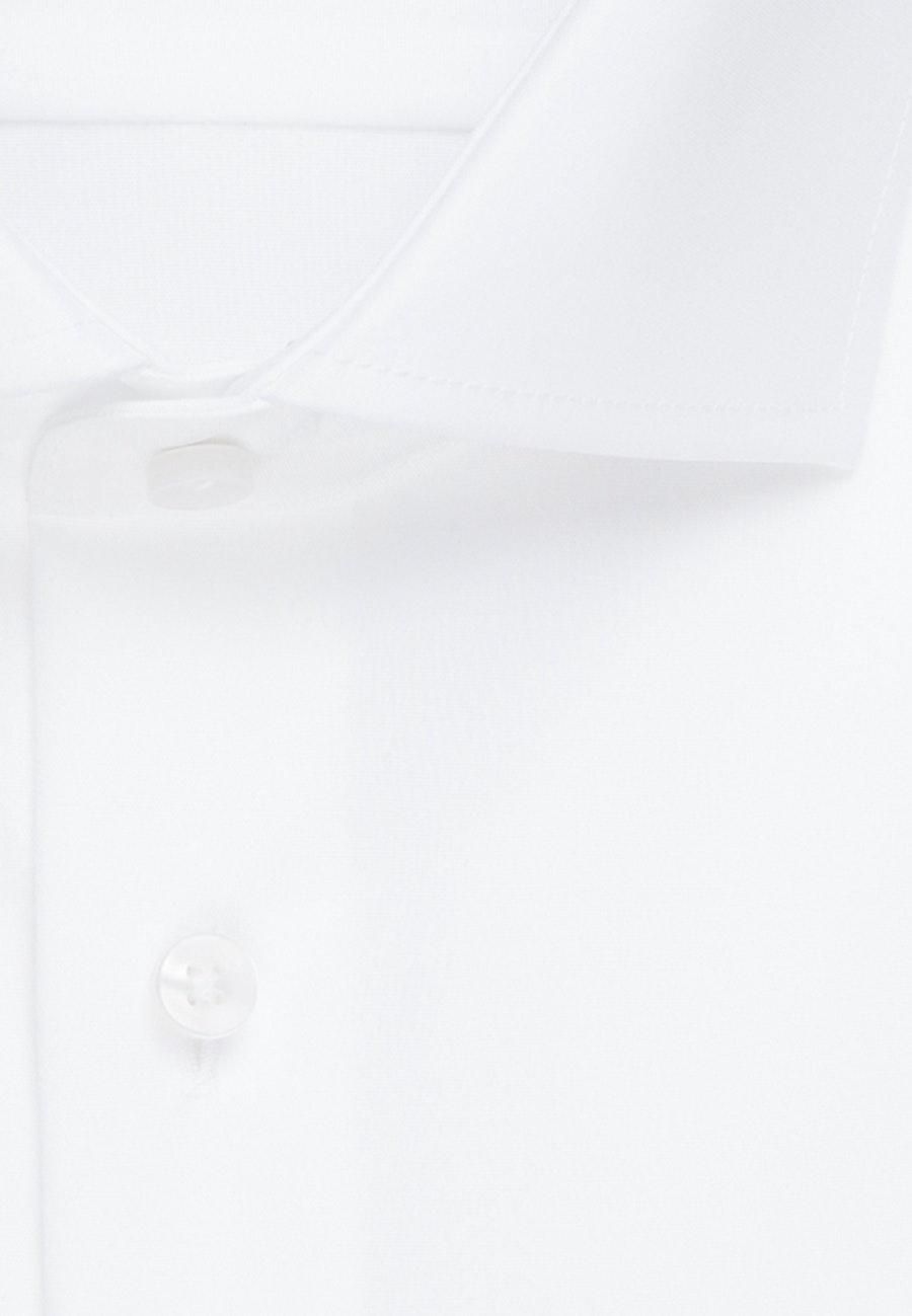 Non-iron Twill Business Shirt in Comfort with Kent-Collar in White    Seidensticker Onlineshop