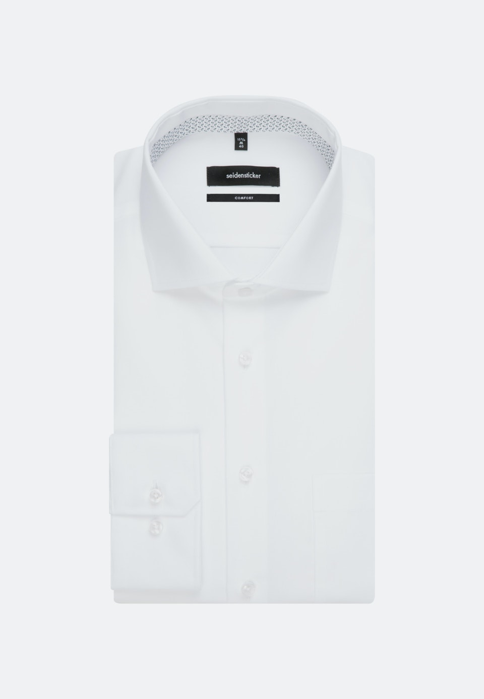 Non-iron Twill Business Shirt in Comfort with Kent-Collar in White |  Seidensticker Onlineshop