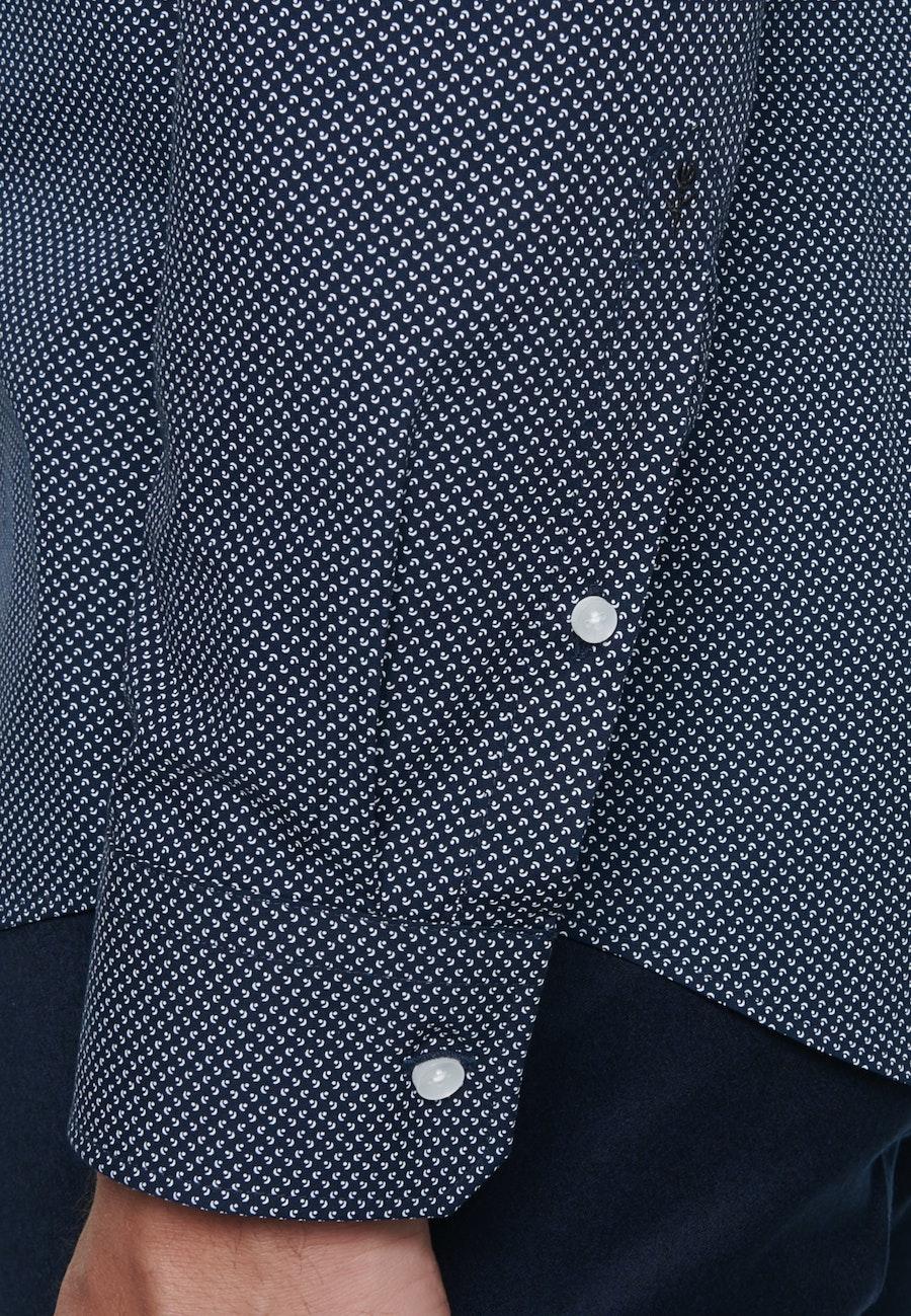 Easy-iron Popeline Business Shirt in X-Slim with Kent-Collar in Dark blue |  Seidensticker Onlineshop