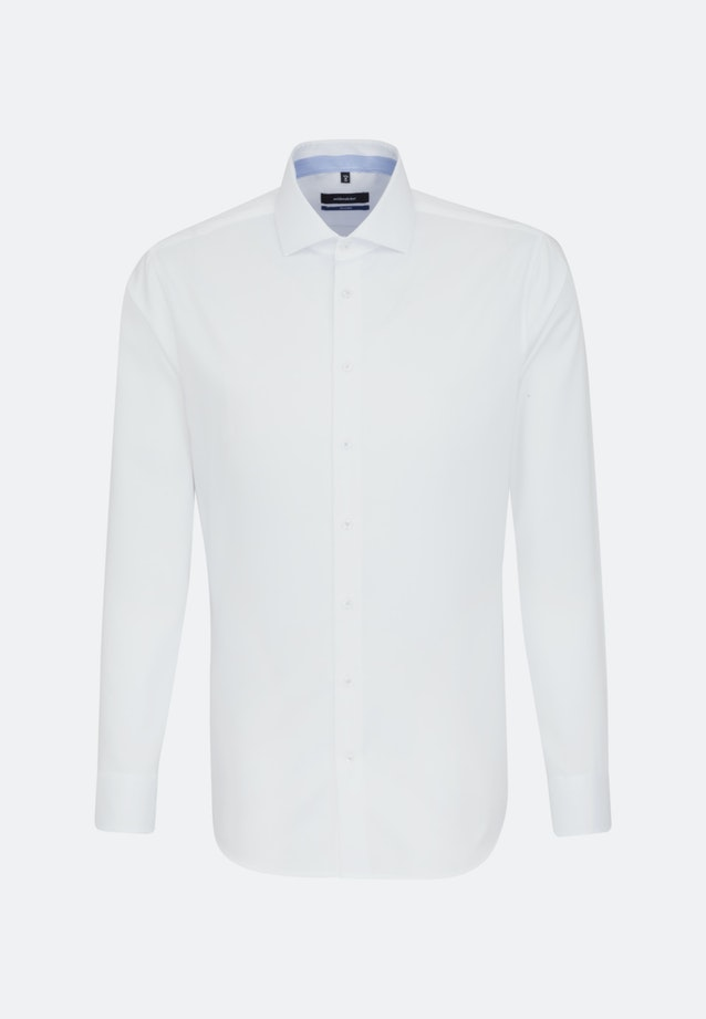 Non-iron Twill Business Shirt in Shaped with Kent-Collar in White |  Seidensticker Onlineshop
