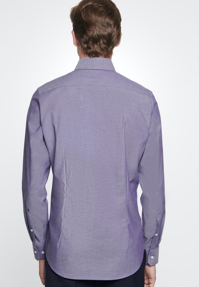 Non-iron Chambray Business Shirt in Shaped with Kent-Collar in Purple    Seidensticker Onlineshop