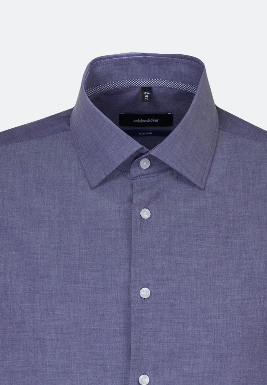 Bügelfreies Chambray Business Hemd in Shaped mit Kentkragen in Lila    Seidensticker Onlineshop