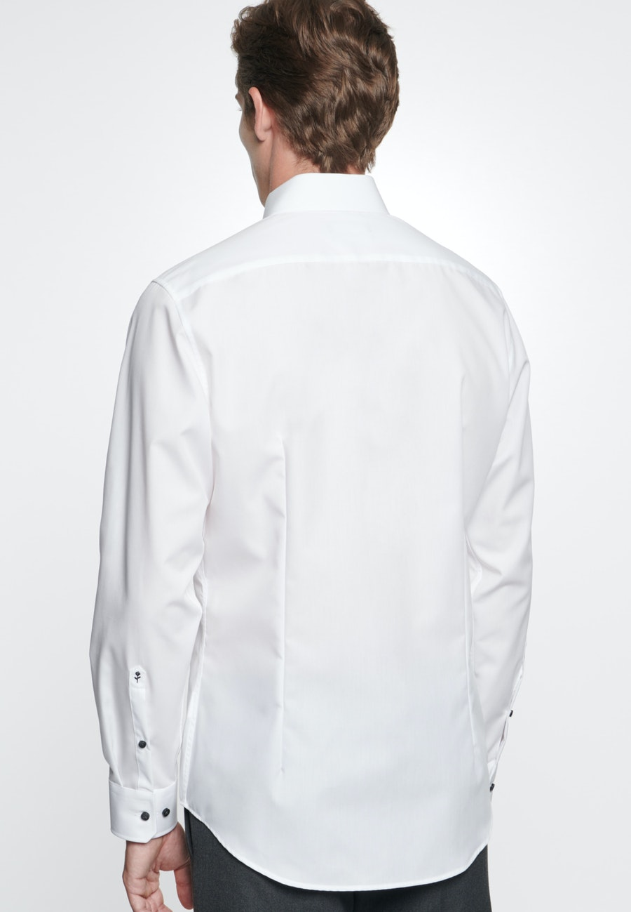 Non-iron Chambray Business Shirt in Shaped with Kent-Collar in White |  Seidensticker Onlineshop