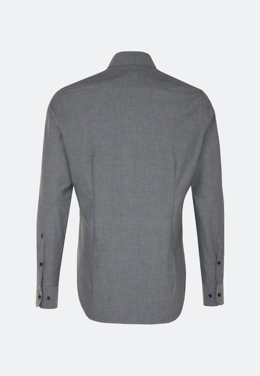 Easy-iron Popeline Business Shirt in X-Slim with Kent-Collar in Grey |  Seidensticker Onlineshop