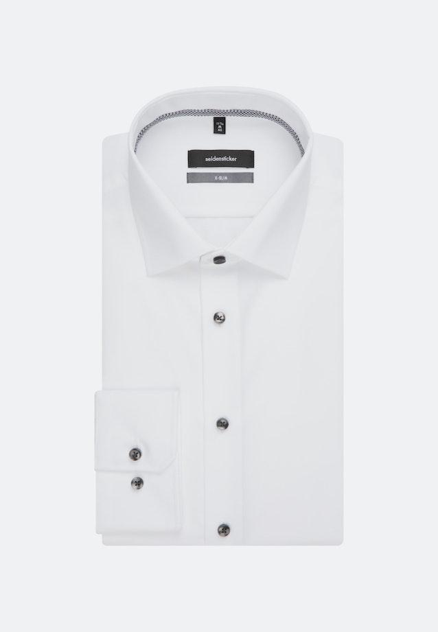 Easy-iron Poplin Business Shirt in X-Slim with Kent-Collar in White    Seidensticker Onlineshop