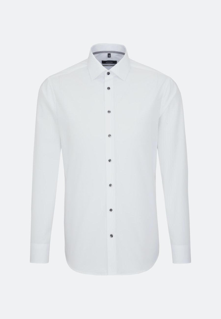 Bügelfreies Chambray Business Hemd in X-Slim mit Kentkragen in Weiß |  Seidensticker Onlineshop
