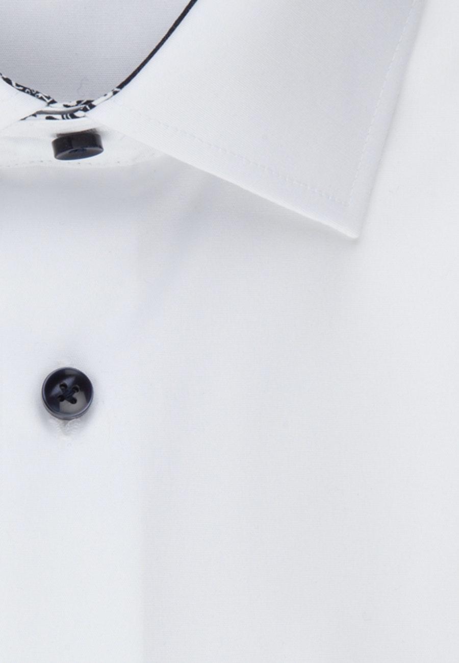 Non-iron Popeline Business Shirt in X-Slim with Kent-Collar in White    Seidensticker Onlineshop