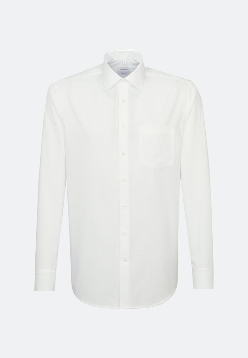 Bügelfreies Popeline Business Hemd in Regular mit Kentkragen in Ecru    Seidensticker Onlineshop