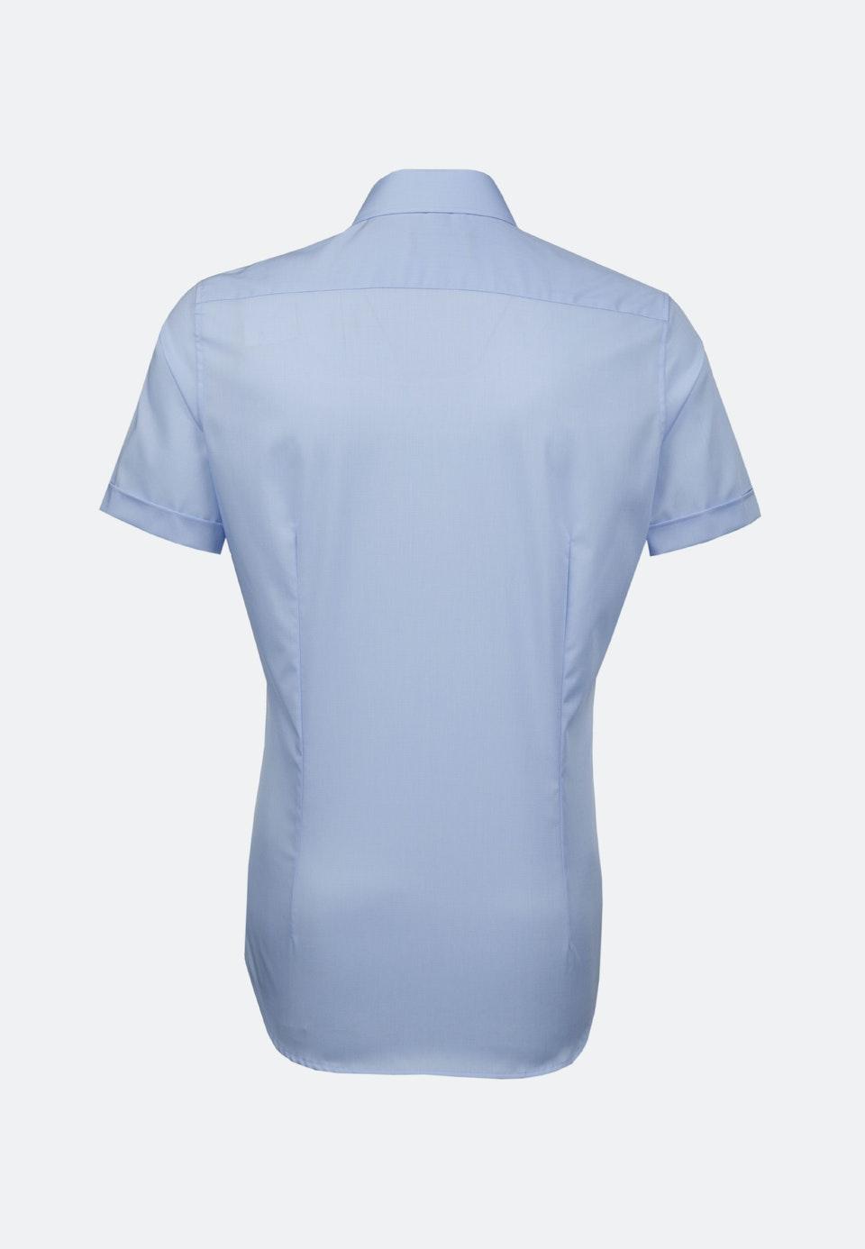 Non-iron Popeline Short sleeve Business Shirt in Slim with Kent-Collar in Light blue |  Seidensticker Onlineshop