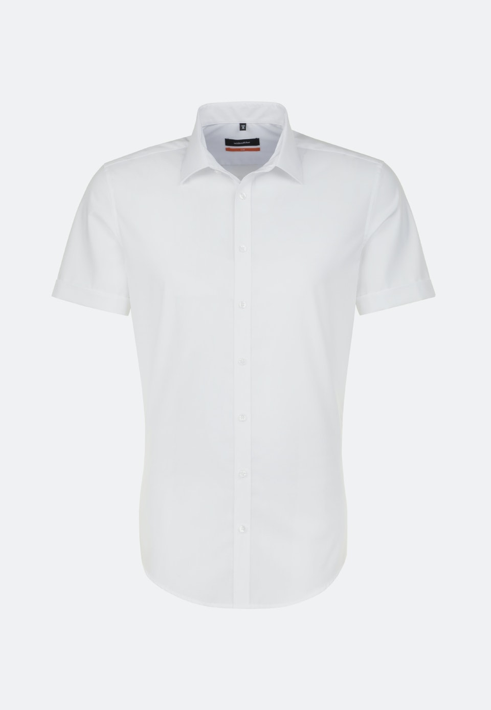 Non-iron Popeline Short sleeve Business Shirt in Slim with Kent-Collar in White |  Seidensticker Onlineshop