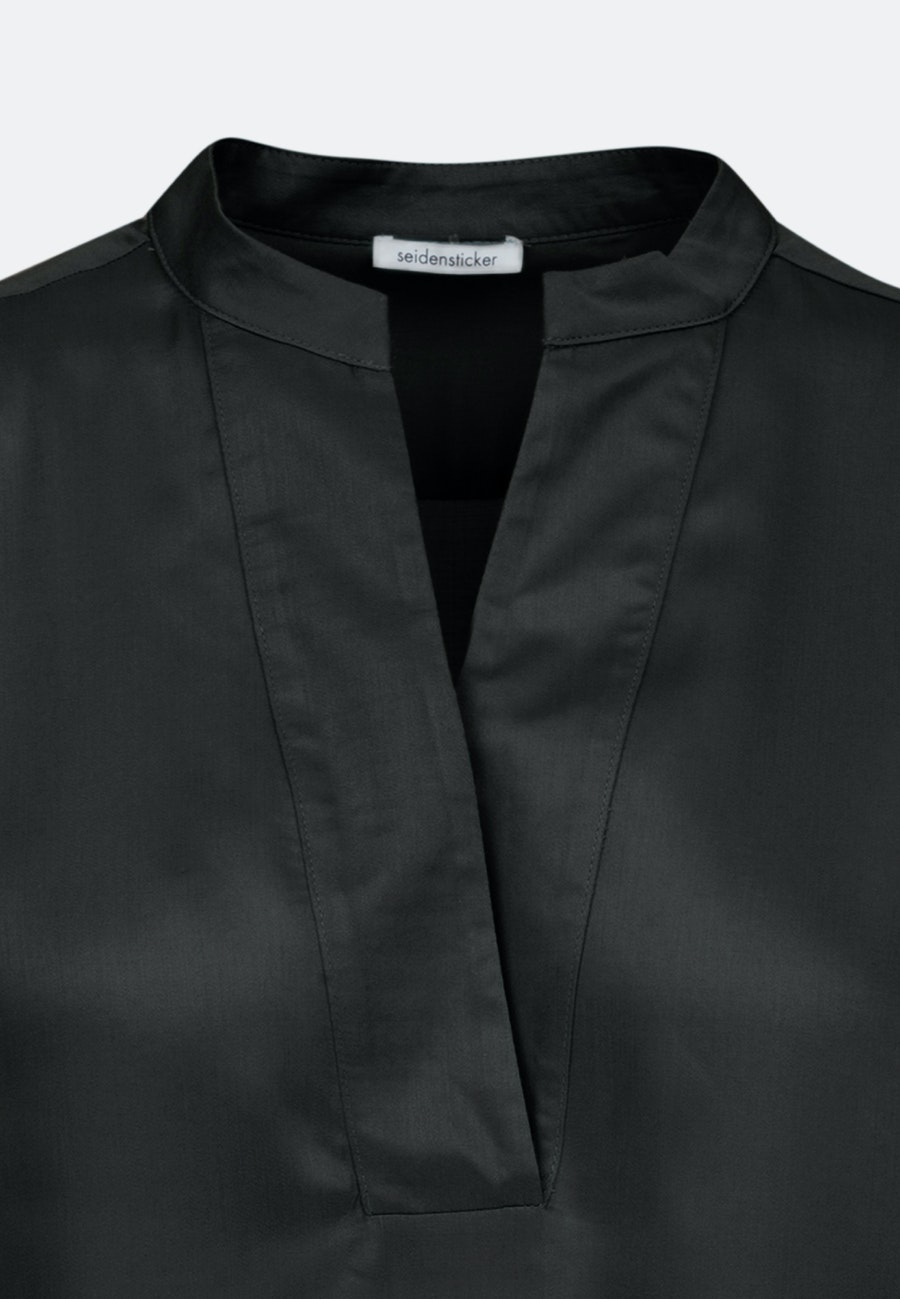 Satin Slip Over Blouse made of 100% Viscose in Black |  Seidensticker Onlineshop
