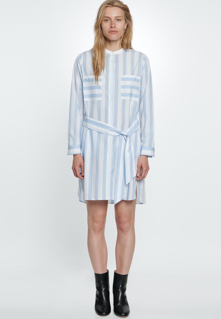 Popeline Midi Kleid aus 100% Baumwolle in Hellblau |  Seidensticker Onlineshop