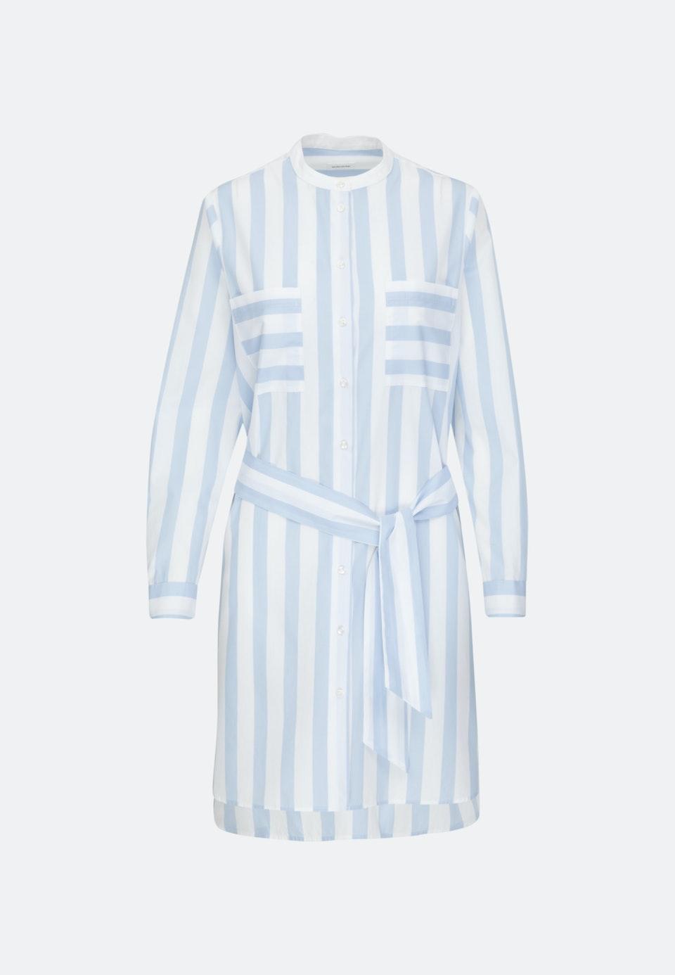 popeline midi kleid aus 100 baumwolle