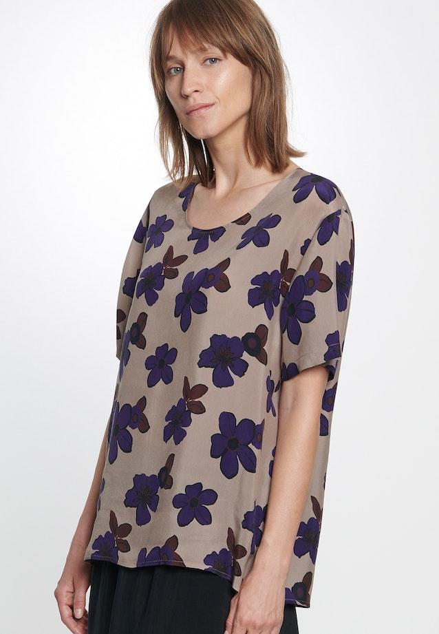 Kurzarm Shirtbluse aus 100% Cupro in Braun    Seidensticker Onlineshop