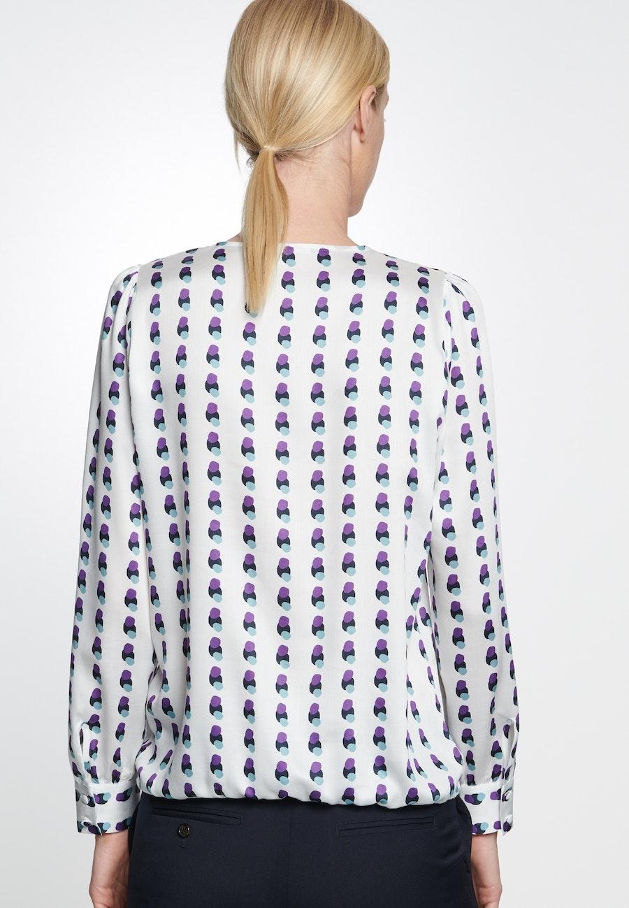 Satin Shirt Blouse made of 100% Viscose in Ecru |  Seidensticker Onlineshop