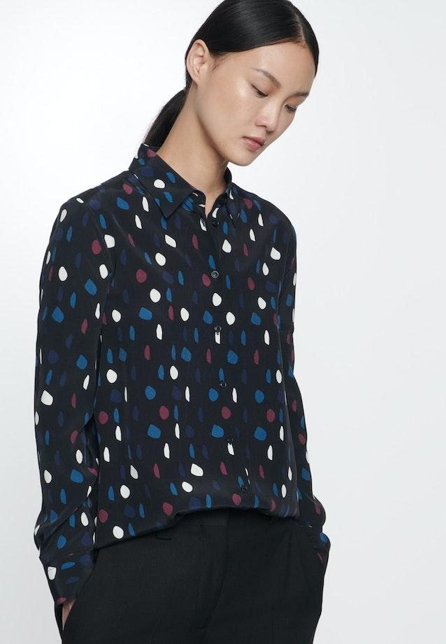 Chiffon Shirt Blouse made of 100% Viscose in Grey |  Seidensticker Onlineshop
